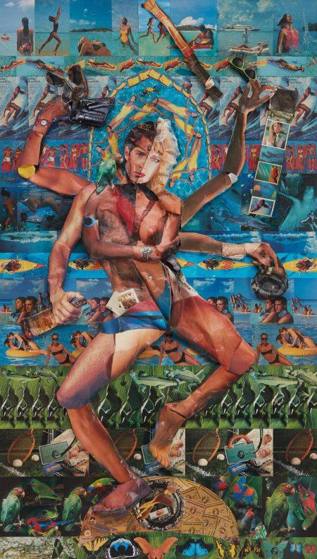 Robert Heinecken-Shiva, The Lord Whose Half Is Woman-1990