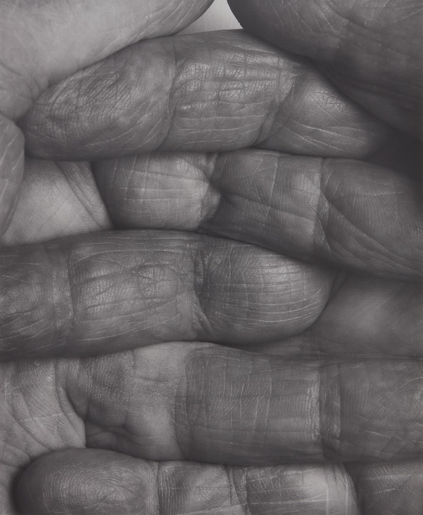 John Coplans-Self Portrait, Interlocking Fingers No. 1-1999