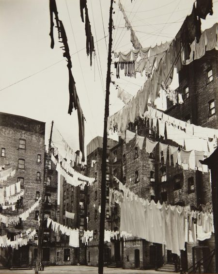 Berenice Abbott-Court Of The First Model Tenement, New York-1936