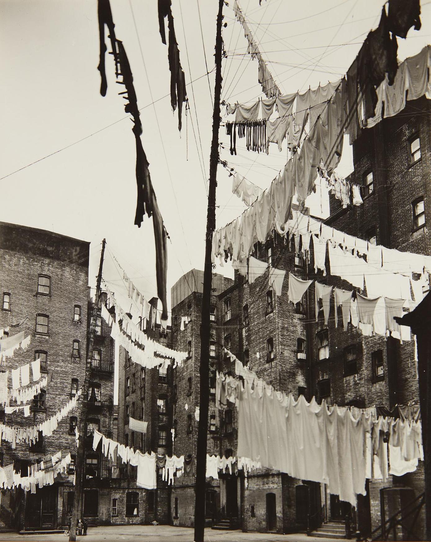 Berenice Abbott-Court Of The First Model Tenement, New York-1936