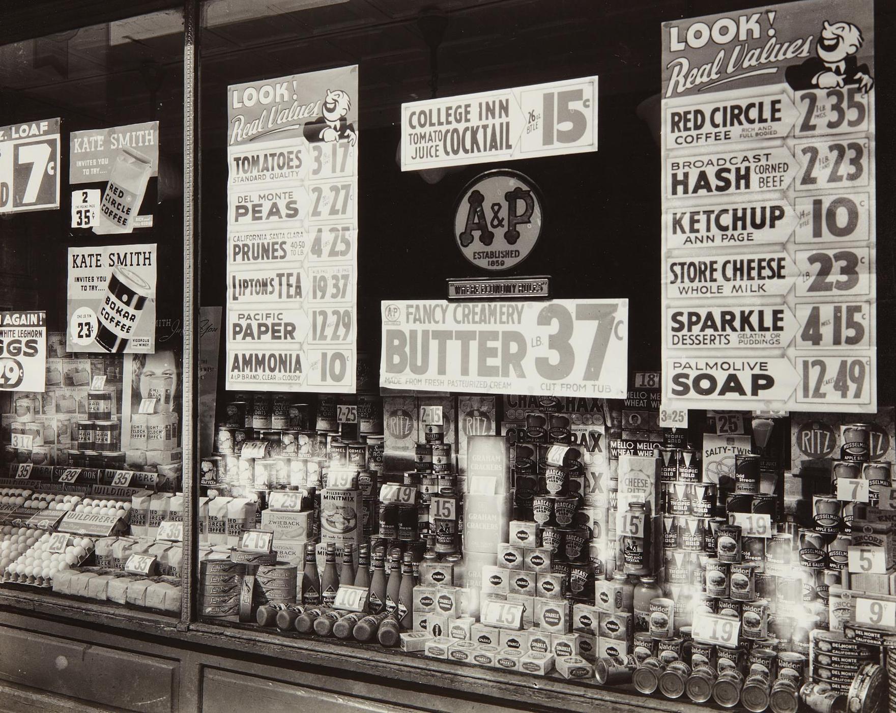 Berenice Abbott-A & P, Great Atlantic And Pacific Tea Company, New York-1936