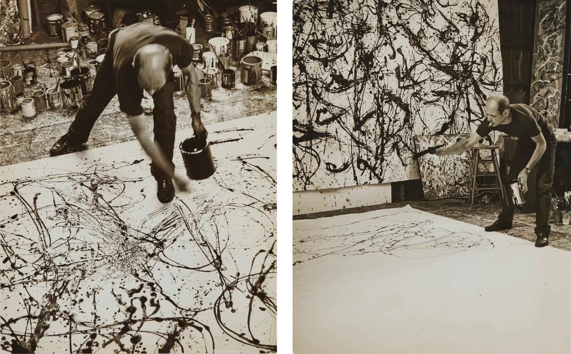 Hans Namuth-Selected Images Of Jackson Pollock Painting-1950