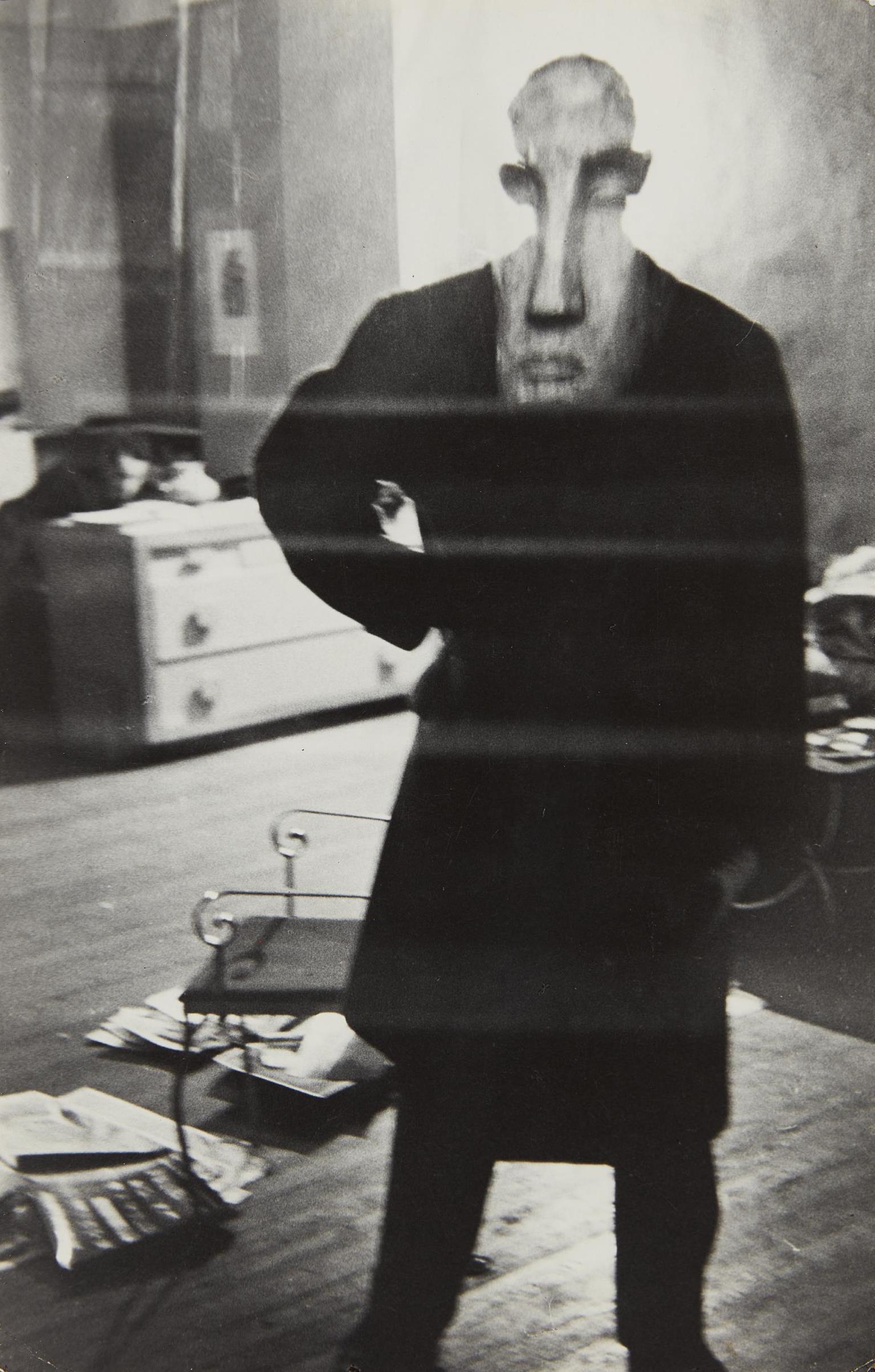Louis Faurer-George Barrows In Robert Franks Loft, New York-1949