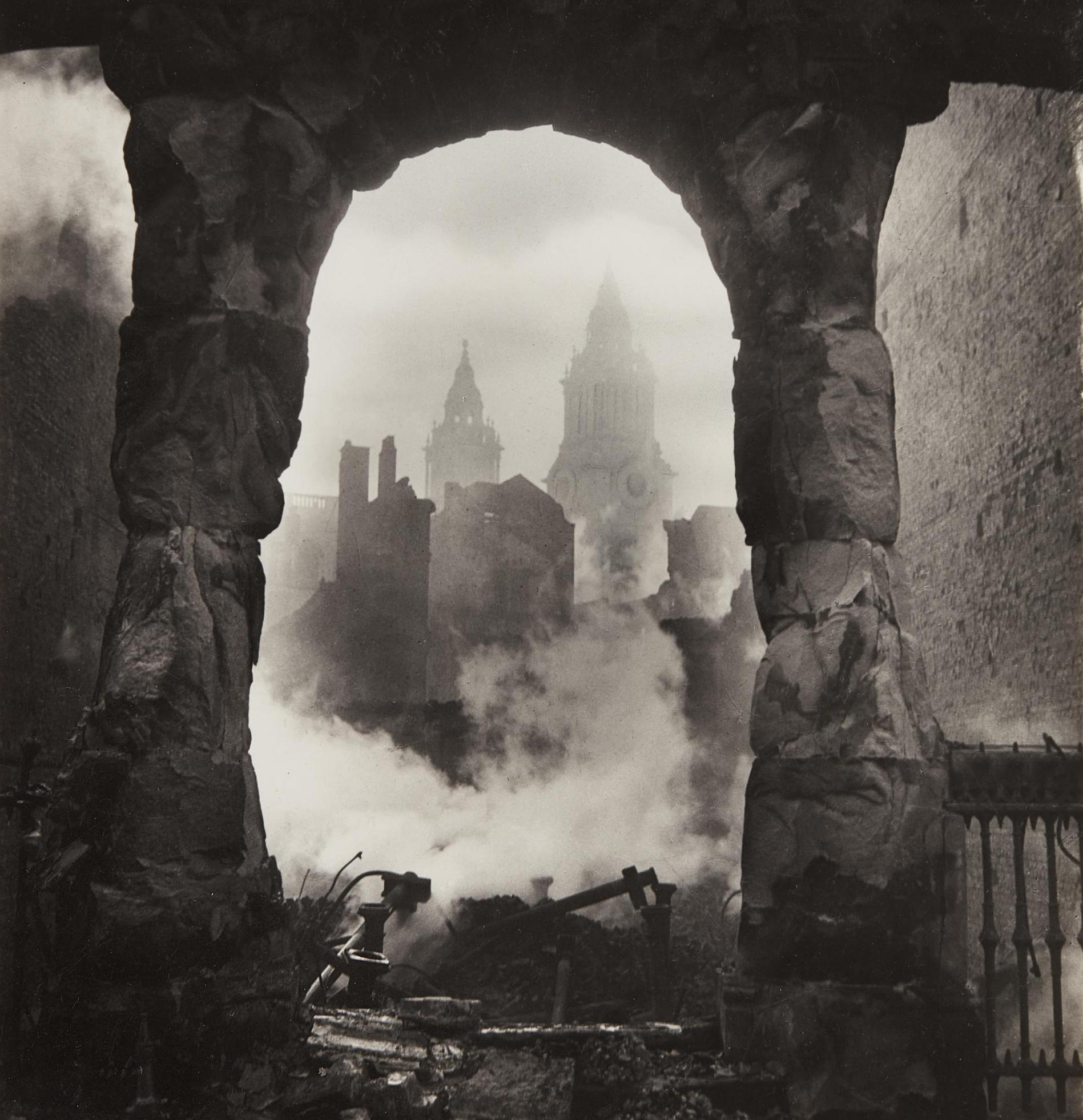 Cecil Beaton-The Blitz/Western Campanile Of St. Paul'S Seen Through Victorian Shop-Front-1940