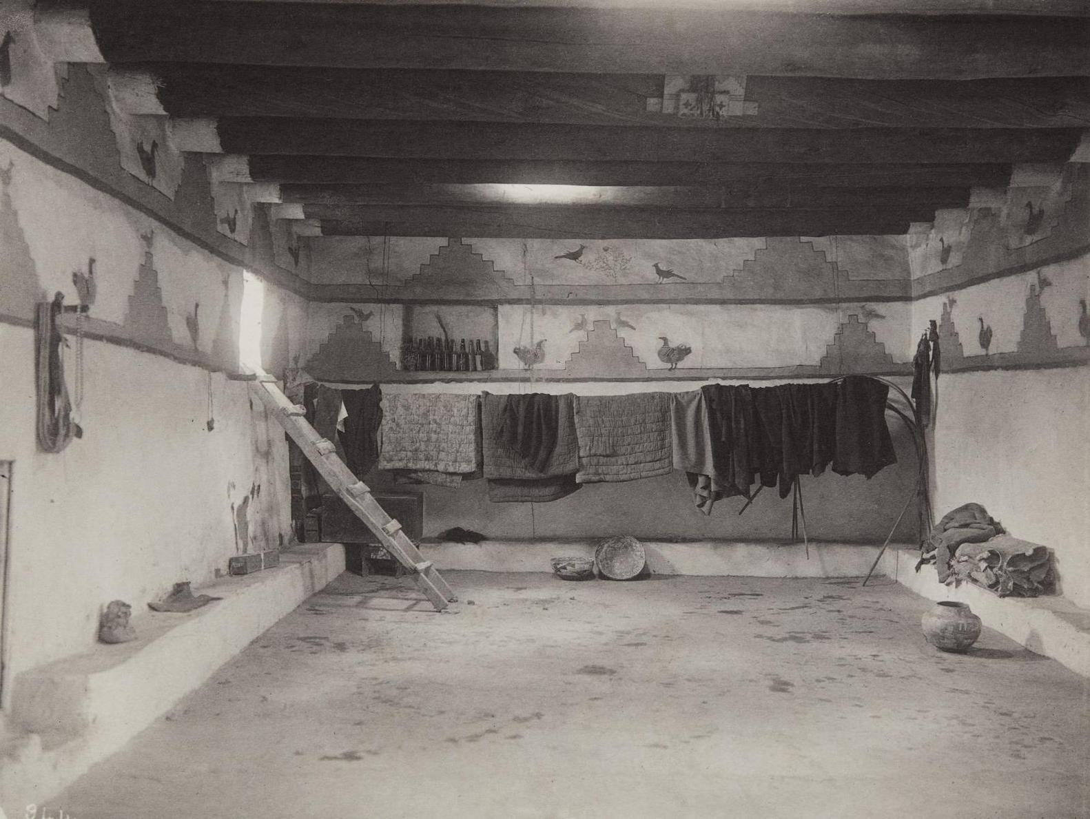 Adam Clark Vroman - Zuni Interior-1899
