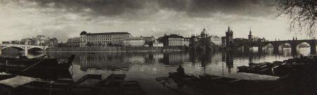 Josef Sudek-From The Bank, Panorama Of Prague-1959