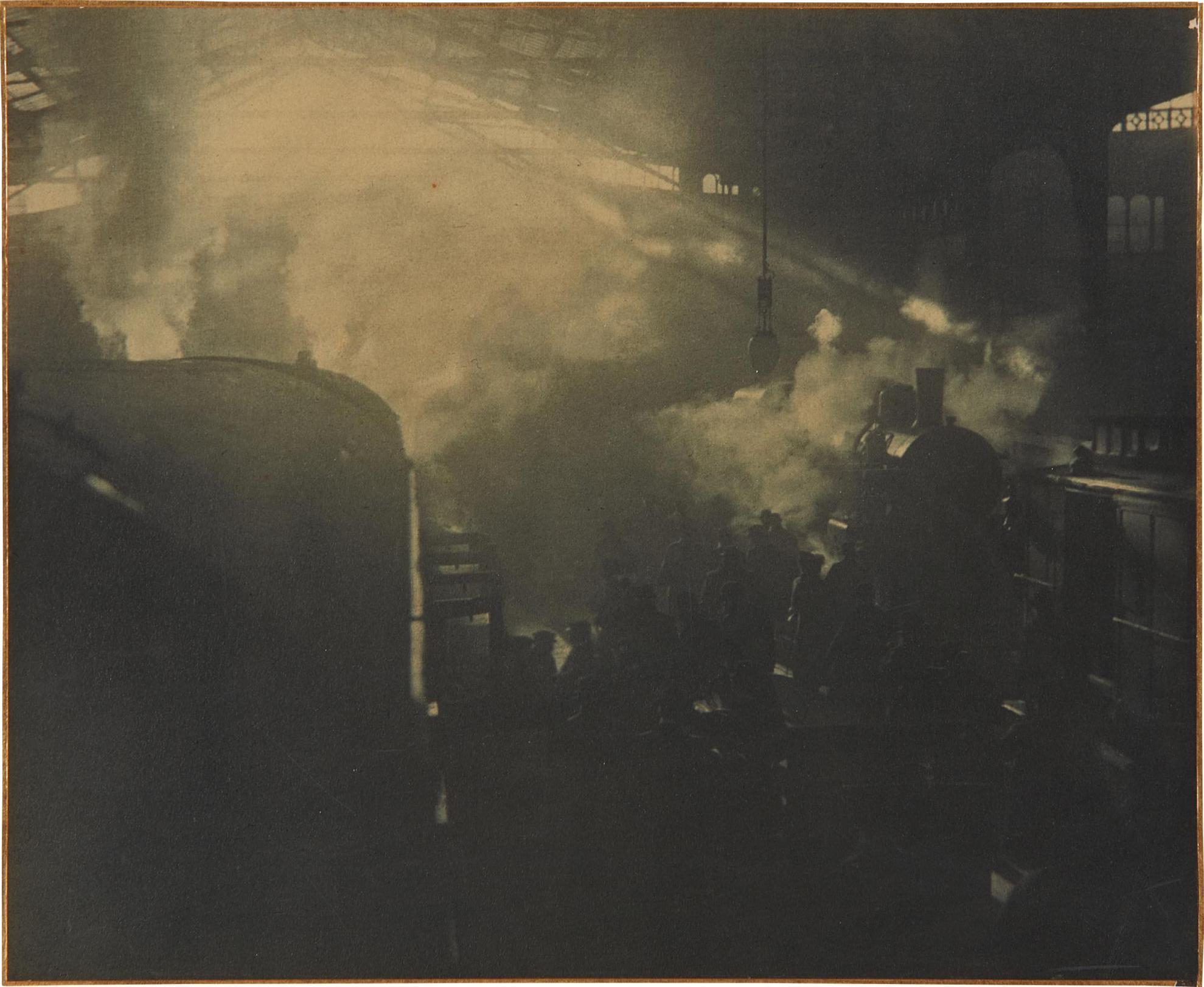 Otto Wegener-Parisian Railroad Station-1910