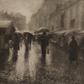 Leonard Misonne-Untitled (Rainy Street Scene)-1930