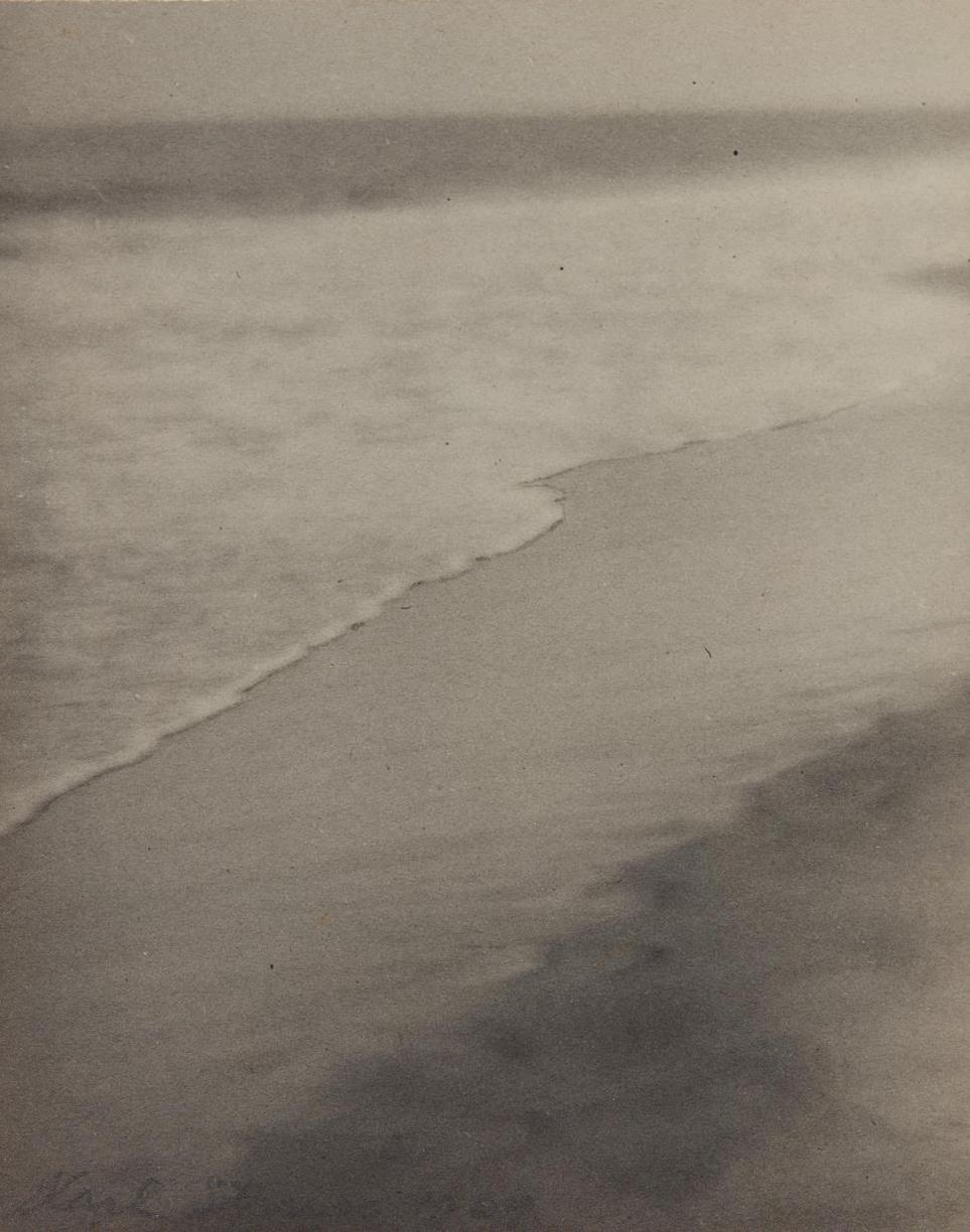 Karl Struss-Waves And Beach, Arverne, Long Island-1909
