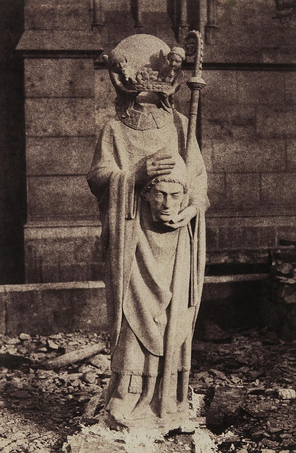 Auguste Mestral - Sculpture Of St. Denis, Notre Dame, Paris-1853