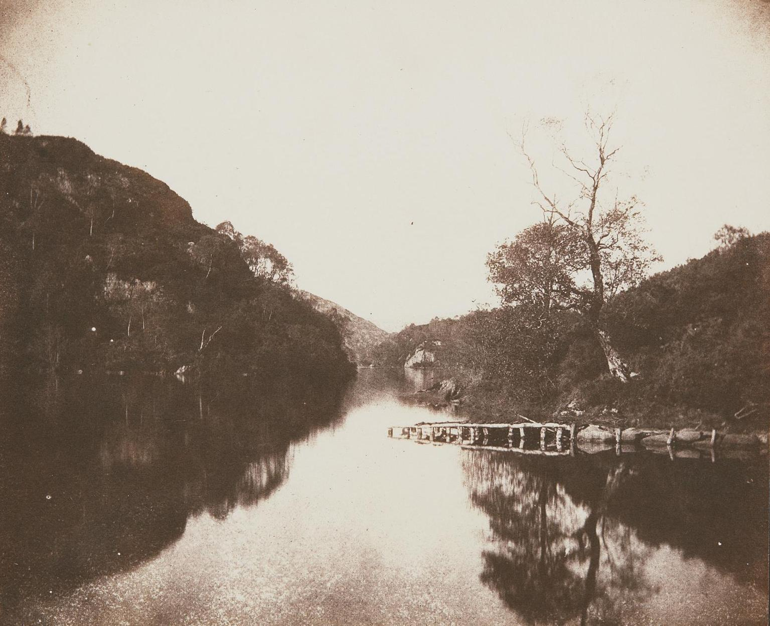 William Henry Fox Talbot-Loch Katrine Pier, Scene Of The Lady Of The Lake-1844