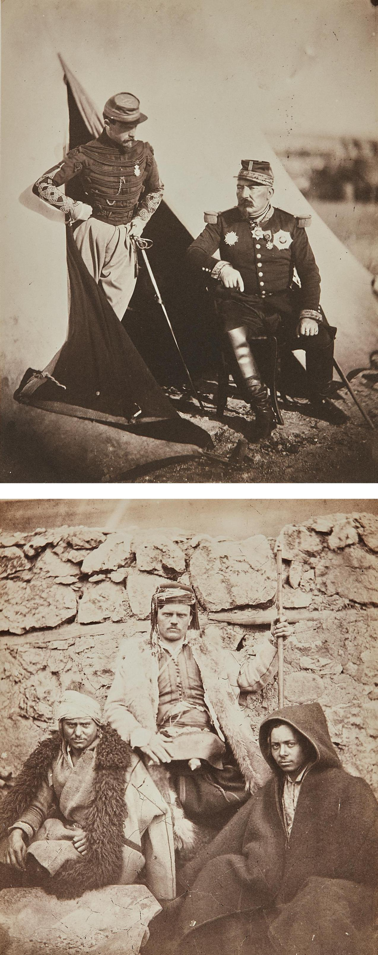 Roger Fenton - General Bosquet And Captain Dampierre And Three Croat Chiefs-1855