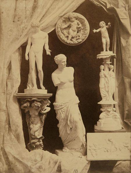 Hippolyte Bayard - Untitled (Still Life With Statuary)-1855