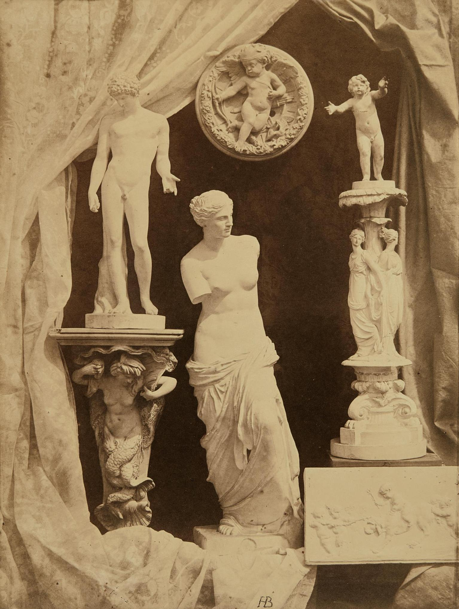 Hippolyte Bayard - Untitled (Still Life With Statuary)-1855