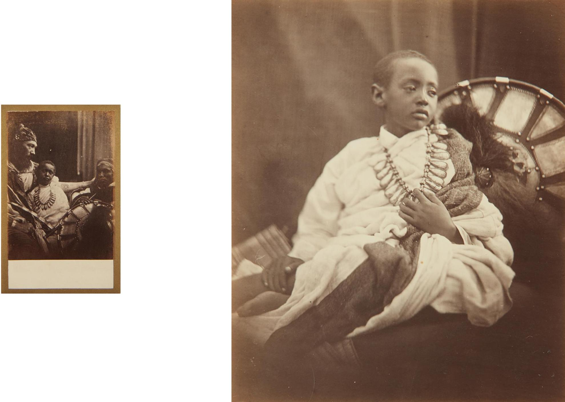 Julia Margaret Cameron-Dejatch Alamayou, King Theodores Son And Dejatch Alamayou & Basha Felika, King Theodores Son & Captain Speedy-1868