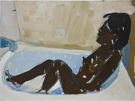 Henry Taylor-Untitled (Woman In Bath Tub, Bathing)-2015