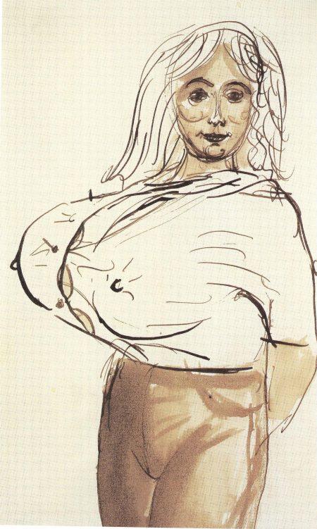 John Currin-Big Breasted Woman-1988
