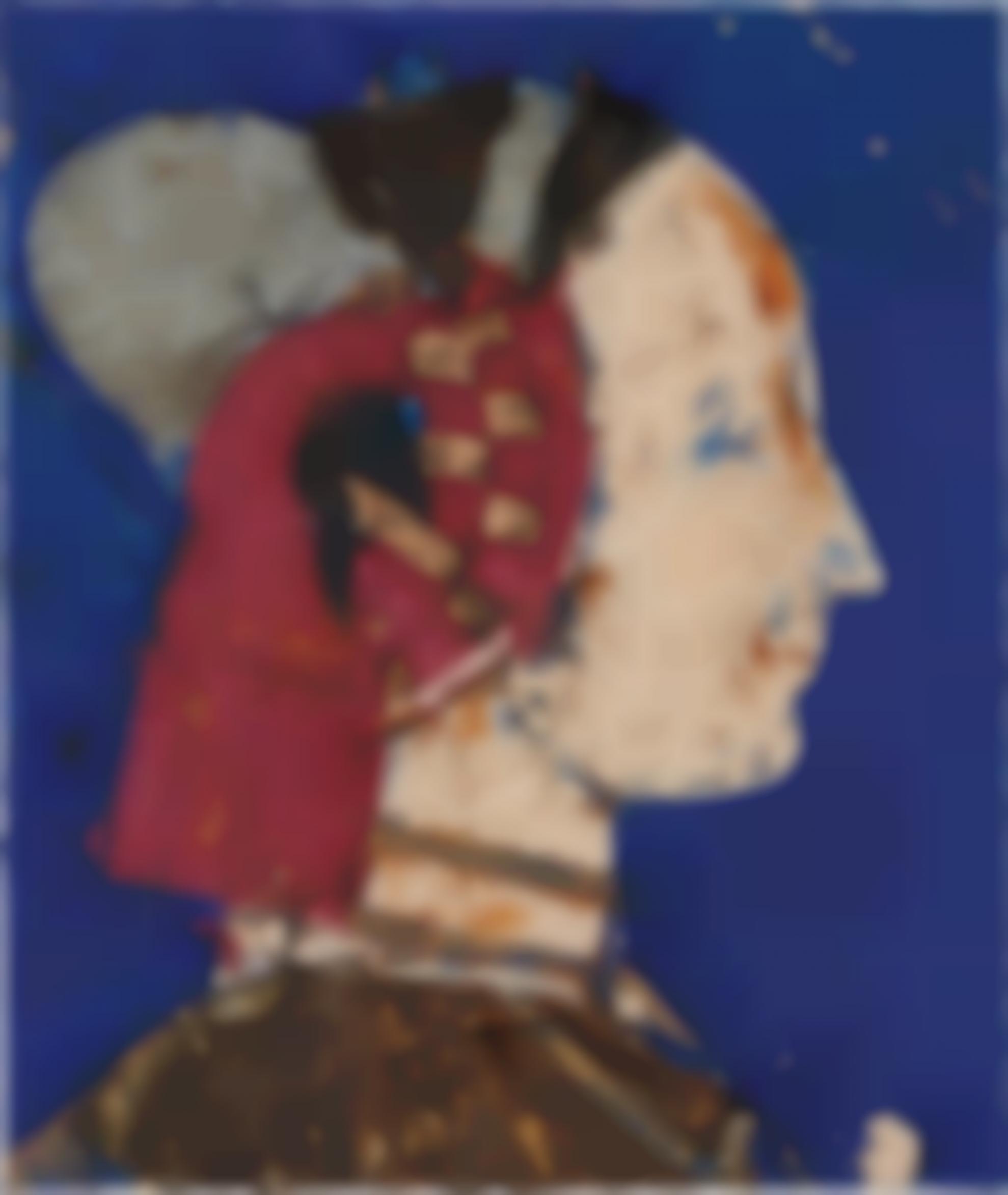 Manolo Valdes-Perfil Con Fondo Azul-1994