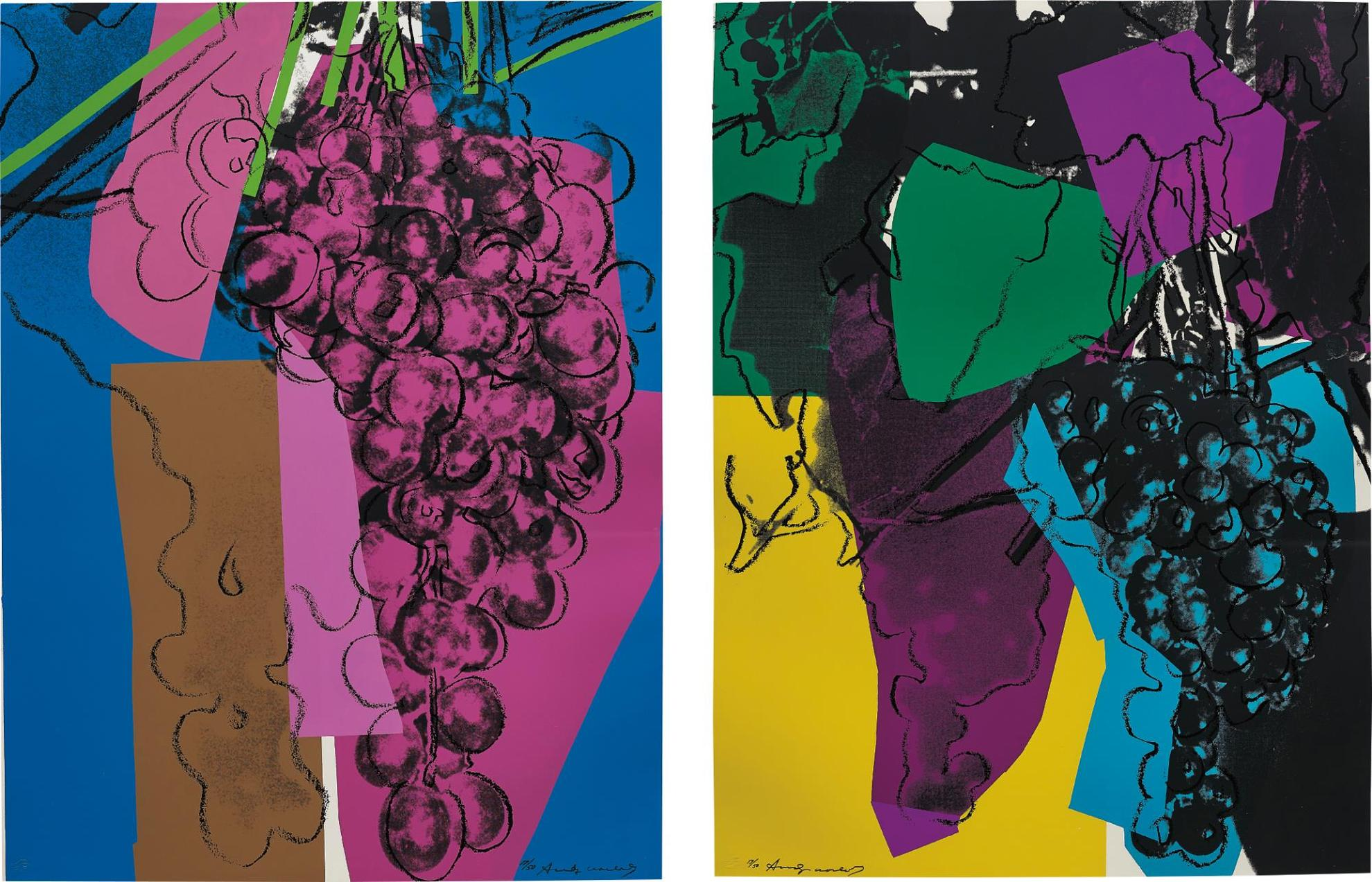 Andy Warhol-2 Works; (I-Ii) Grapes-1979