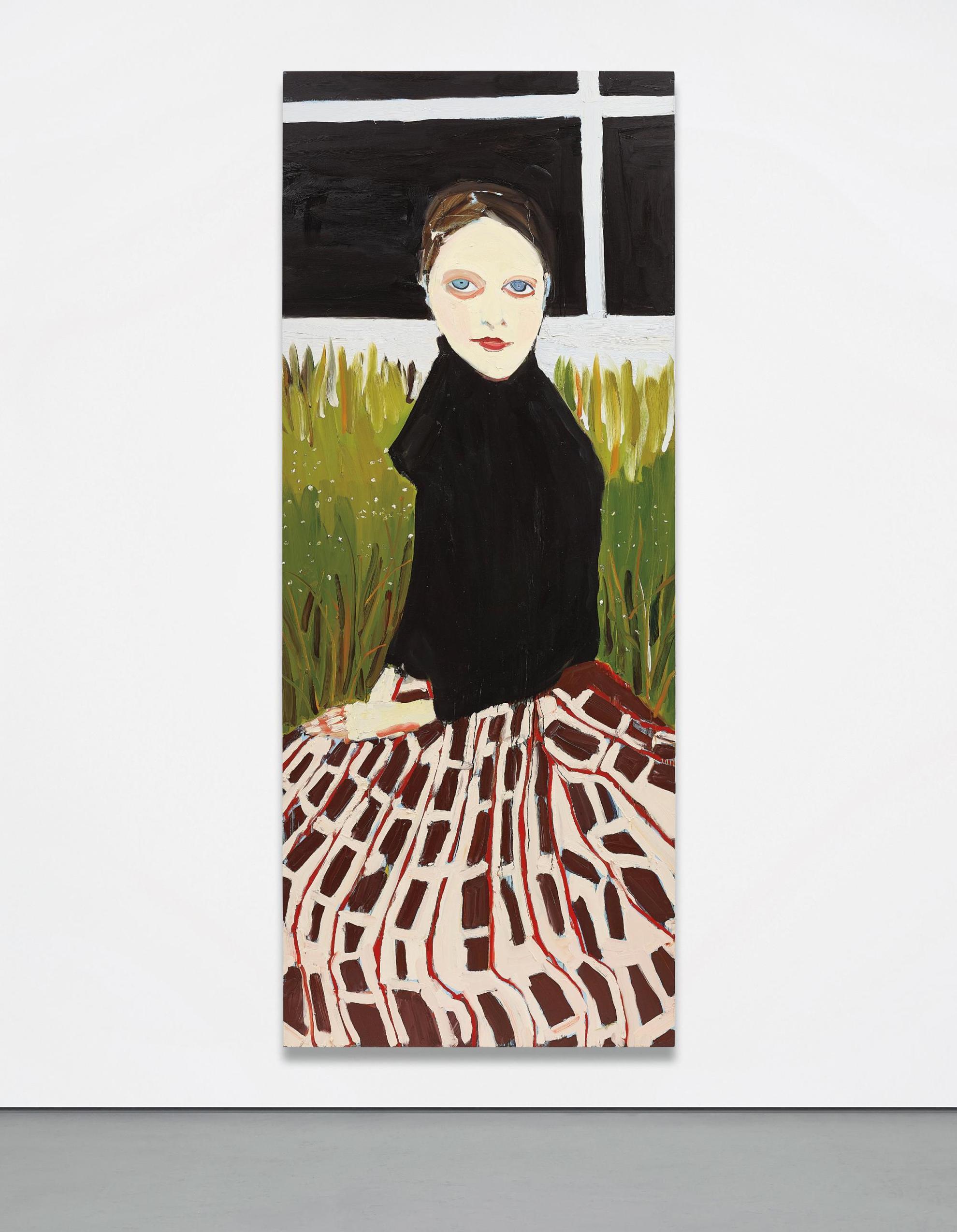 Chantal Joffe-Checkered Skirt-2005