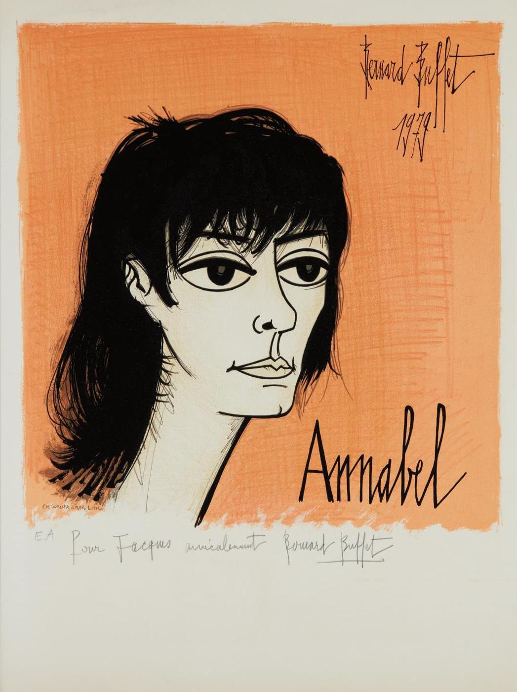Bernard Buffet-Annabel, By Charles Sorlier-1979