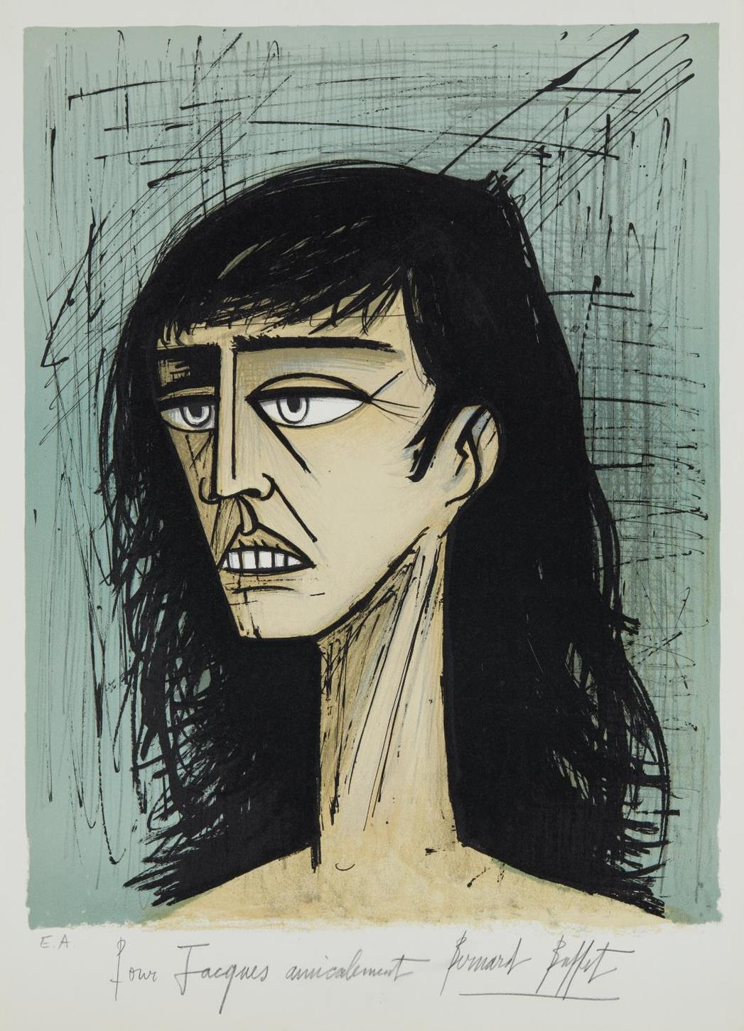 Bernard Buffet-Tete De Femme (Head Of A Woman)-1980