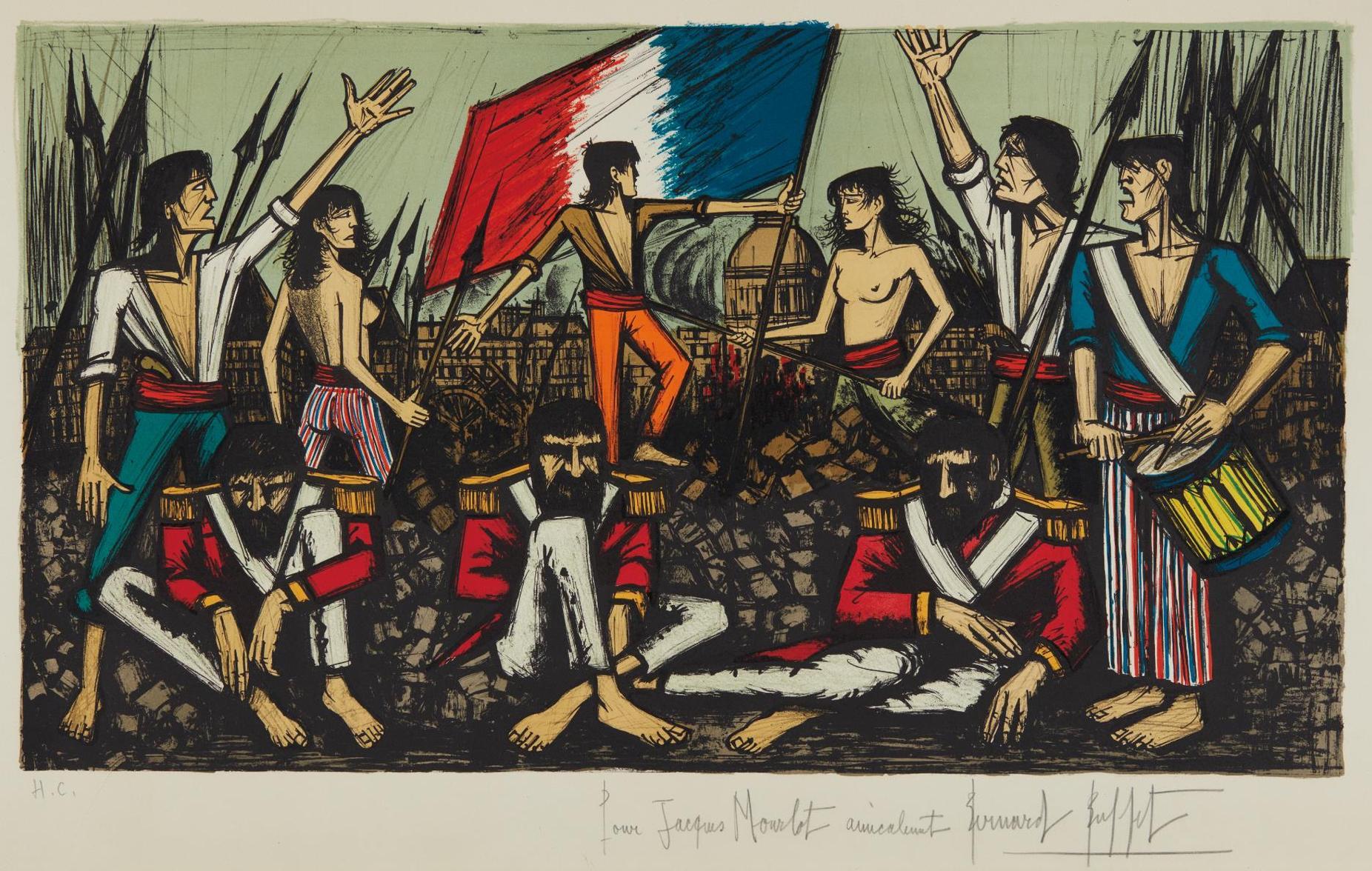 Bernard Buffet-La Prise Des Tuileries (The Capture Of The Tuileries)-1978