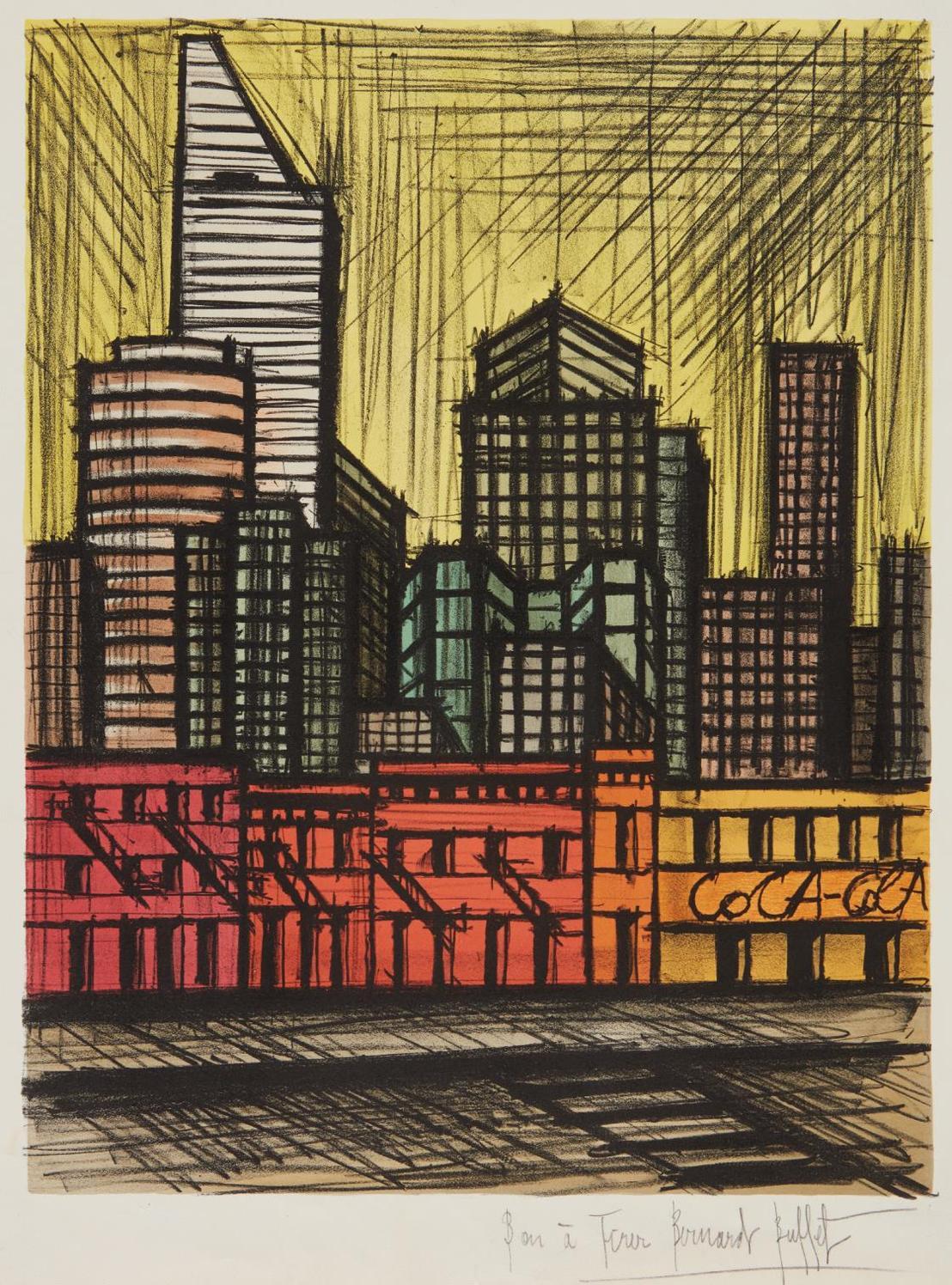 Bernard Buffet-New York, Coca-Cola-1986