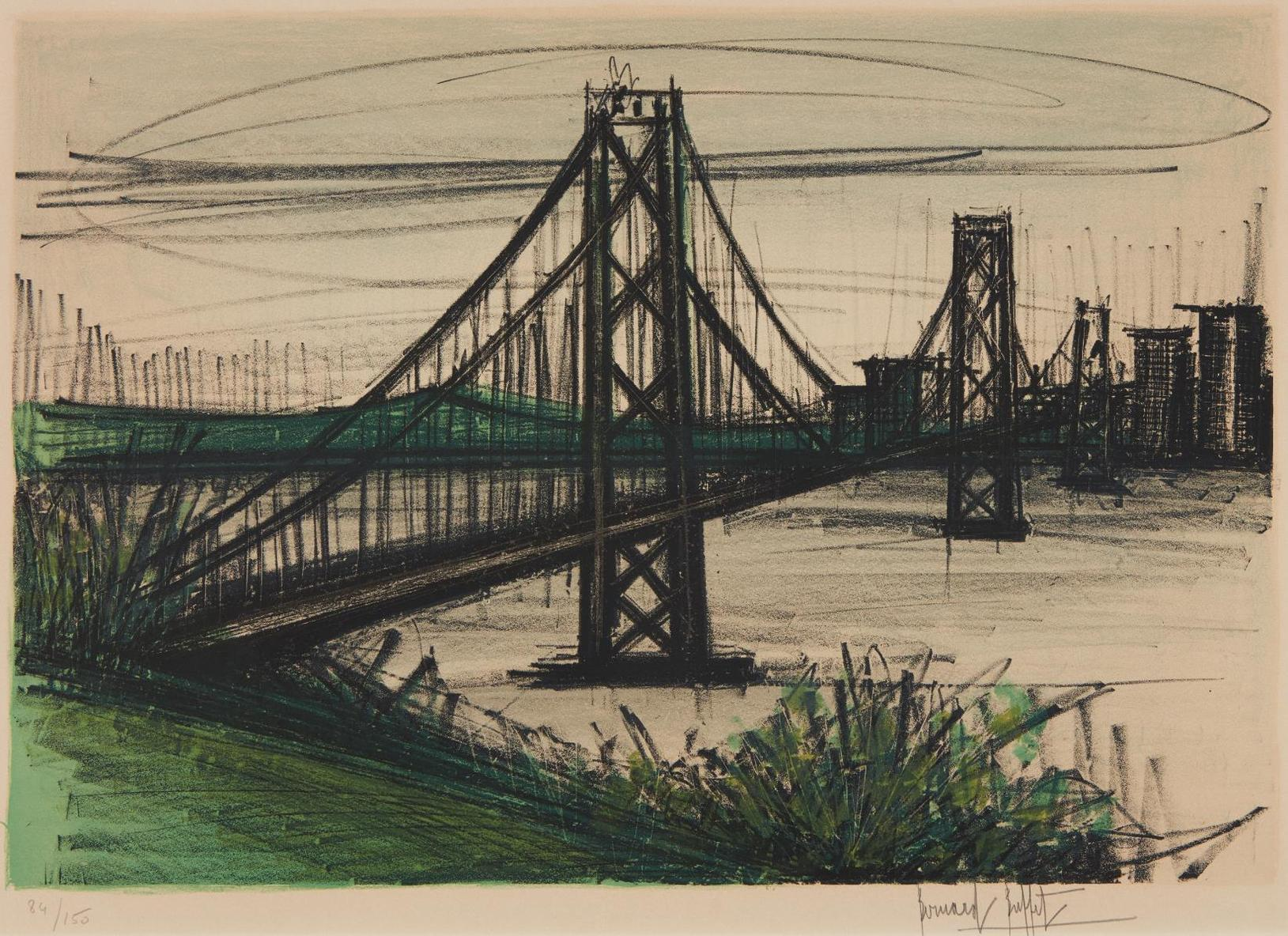 Bernard Buffet-Album San Francisco: Oakland Bridge-1966
