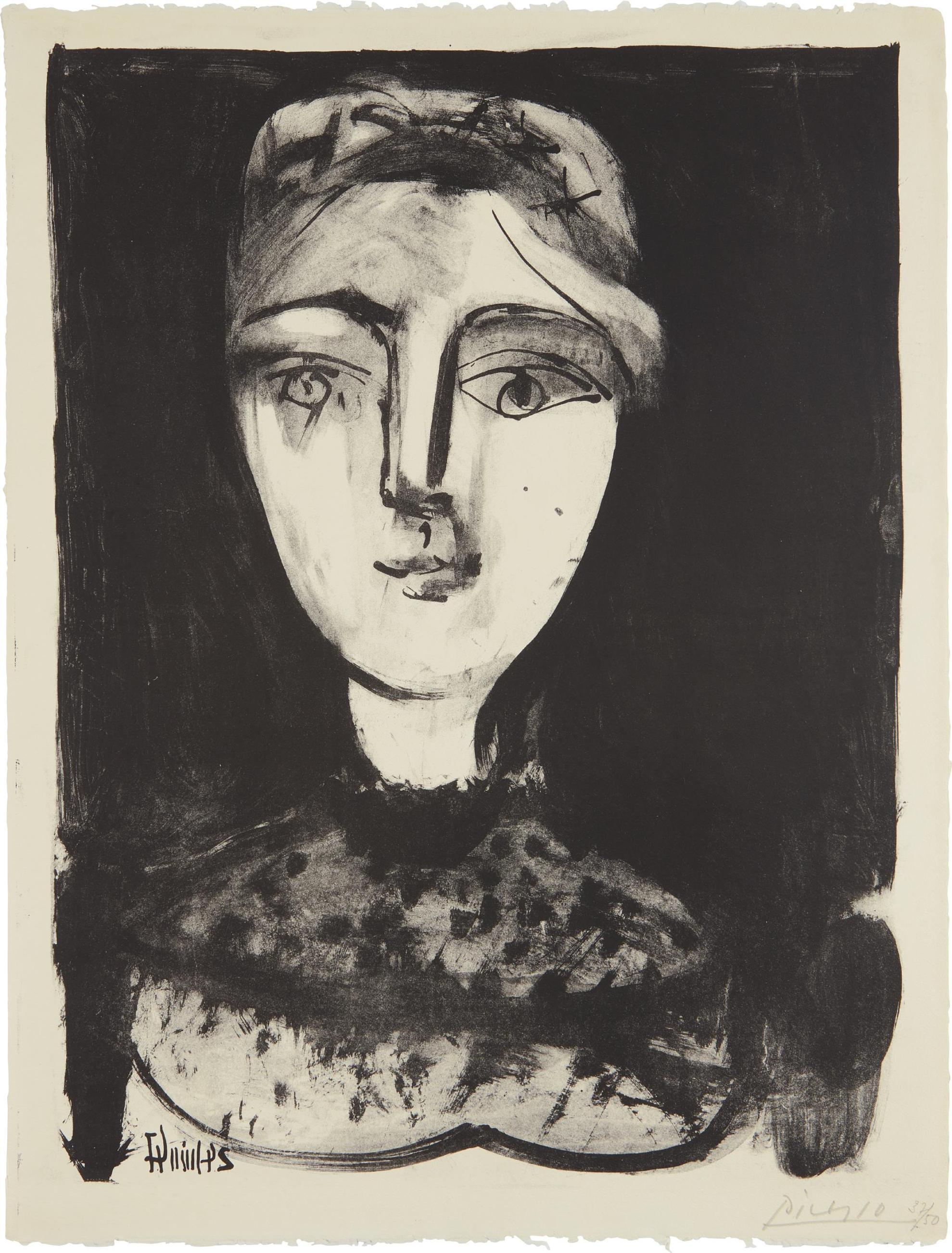Pablo Picasso-Tete De Jeune Femme (Head Of A Young Woman)-1947