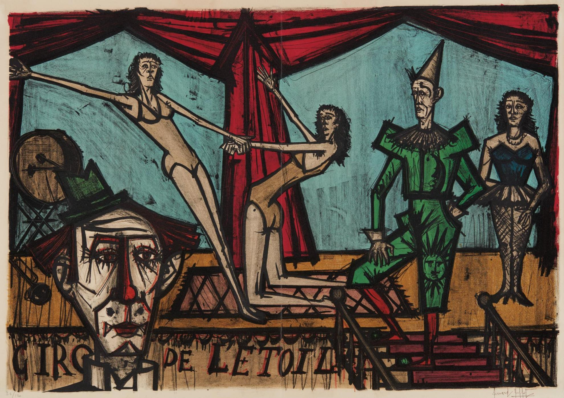 Bernard Buffet-La Parade (The Parade), From Mon Cirque (My Circus)-1968