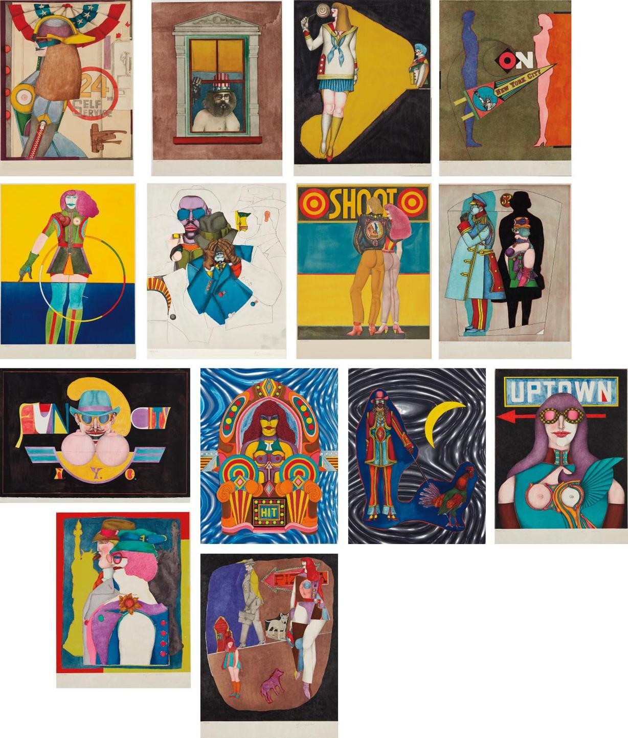 Richard Lindner-Fun City-1971