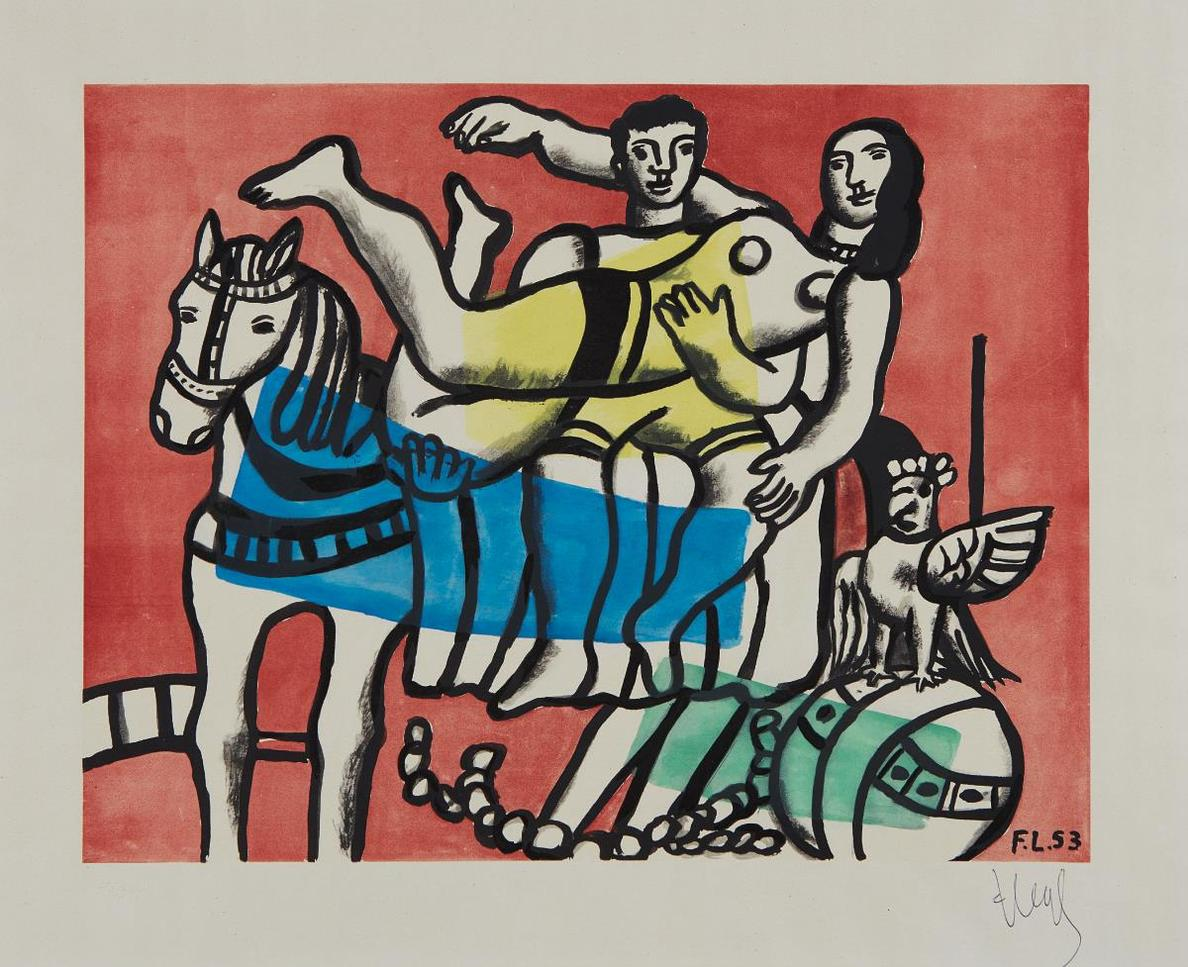 After Fernand Leger - La Parade-1953