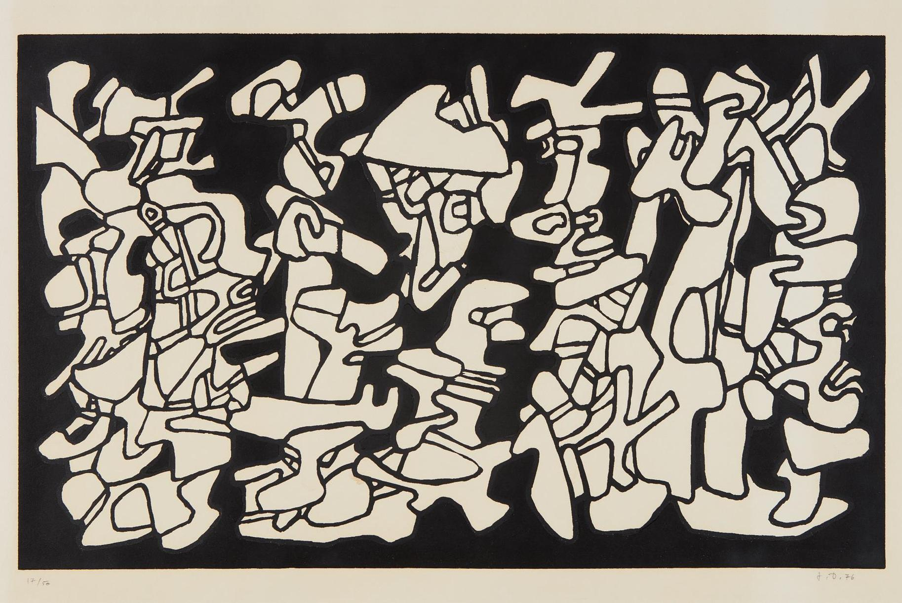 Jean Dubuffet-Evocations (Conjuring), From Fables-1976