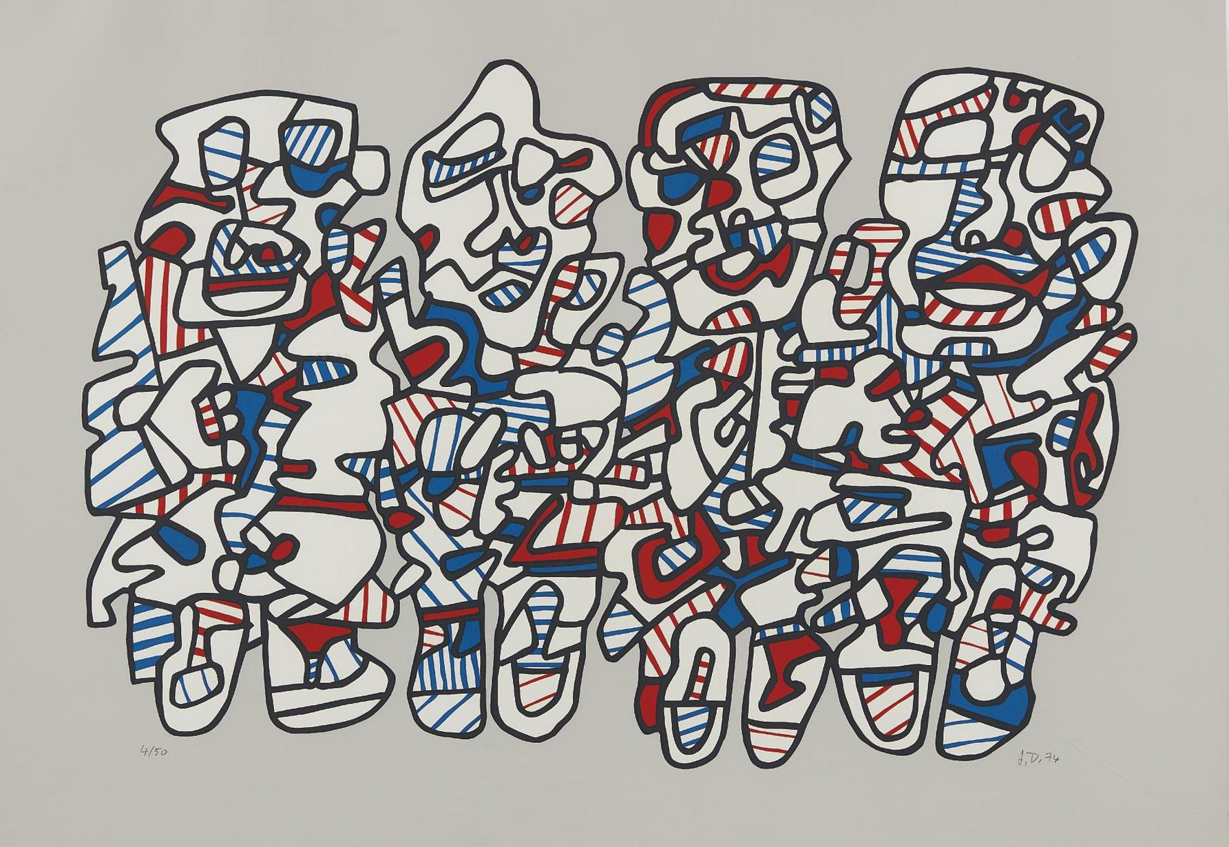Jean Dubuffet-Quatre Personnages (Four Characters)-1974