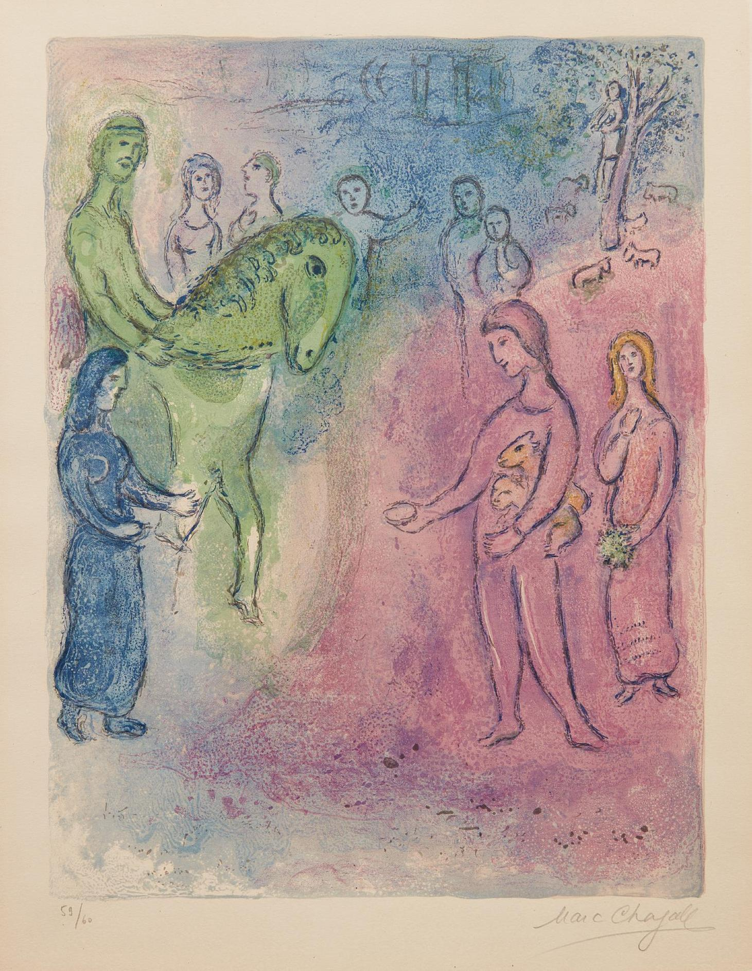 Marc Chagall-Arrivee De Dionysophane (The Arrival Of Dionysophanes), From Daphnis And Chloe-1961