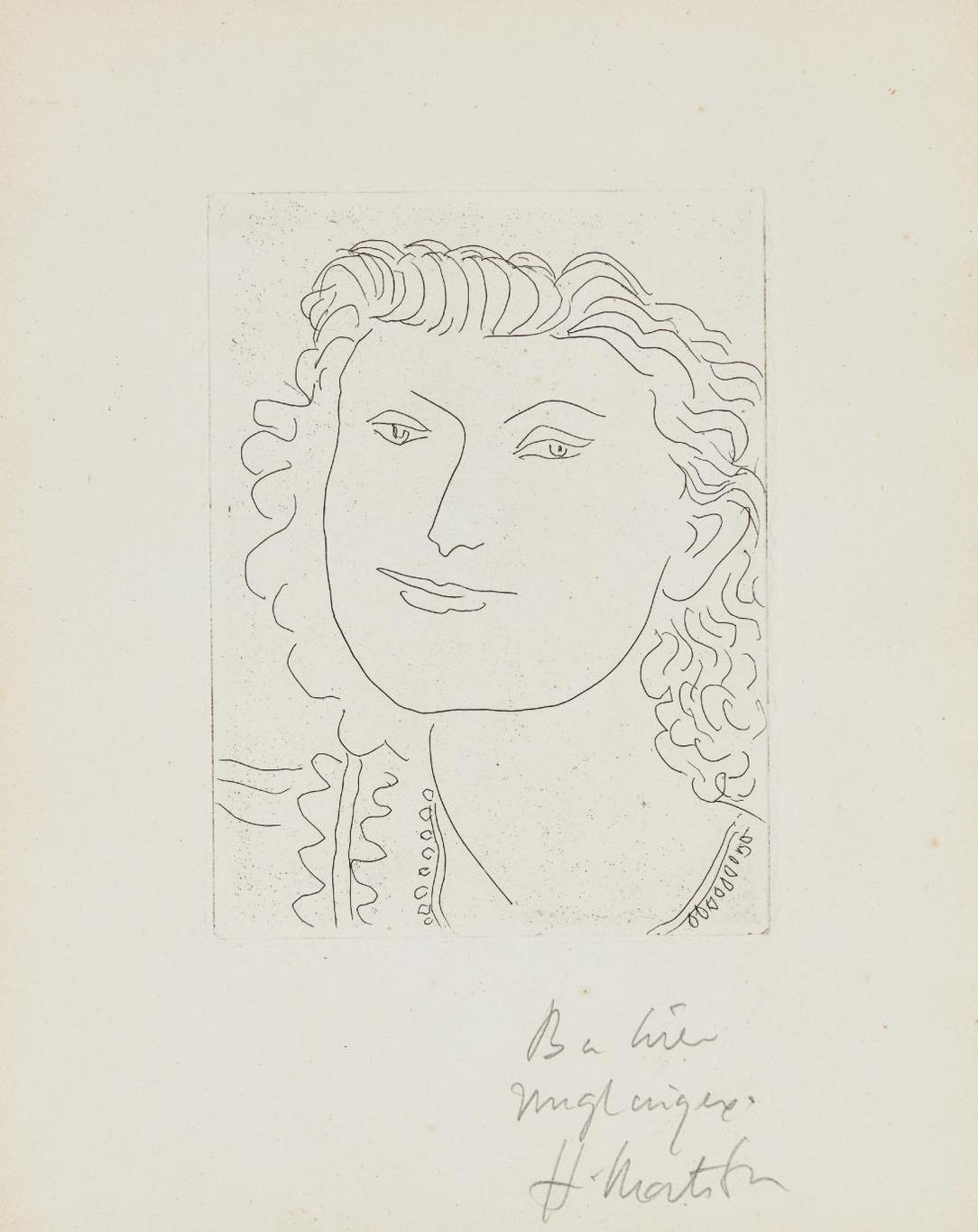Henri Matisse-Visage Souriant (Smiling Face)-1946