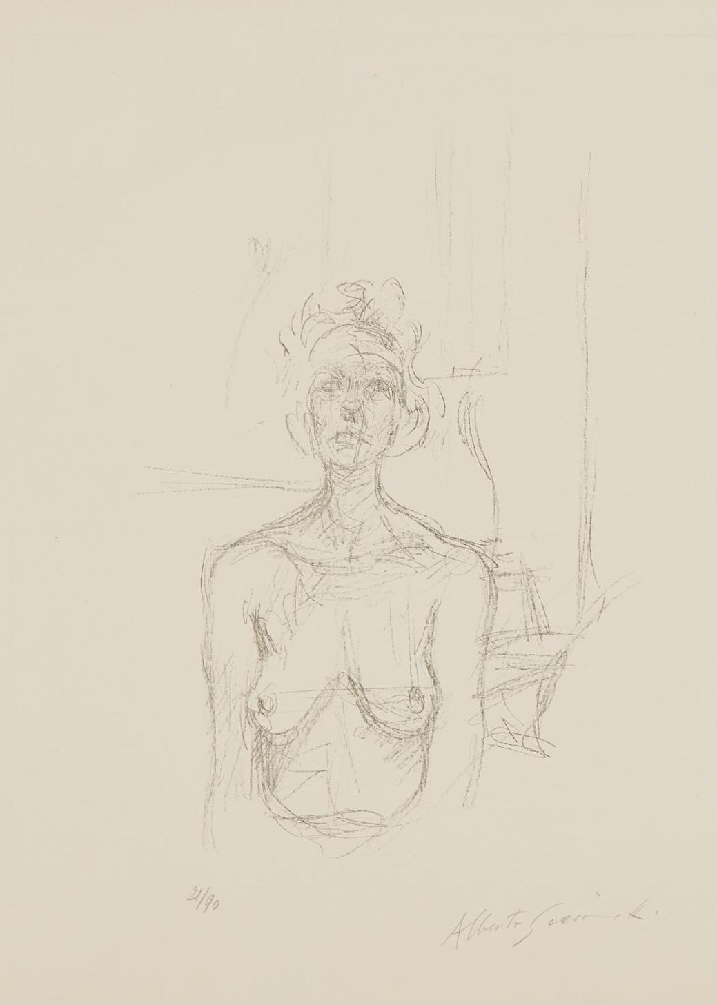 Alberto Giacometti-Buste I (Bust I)-1960