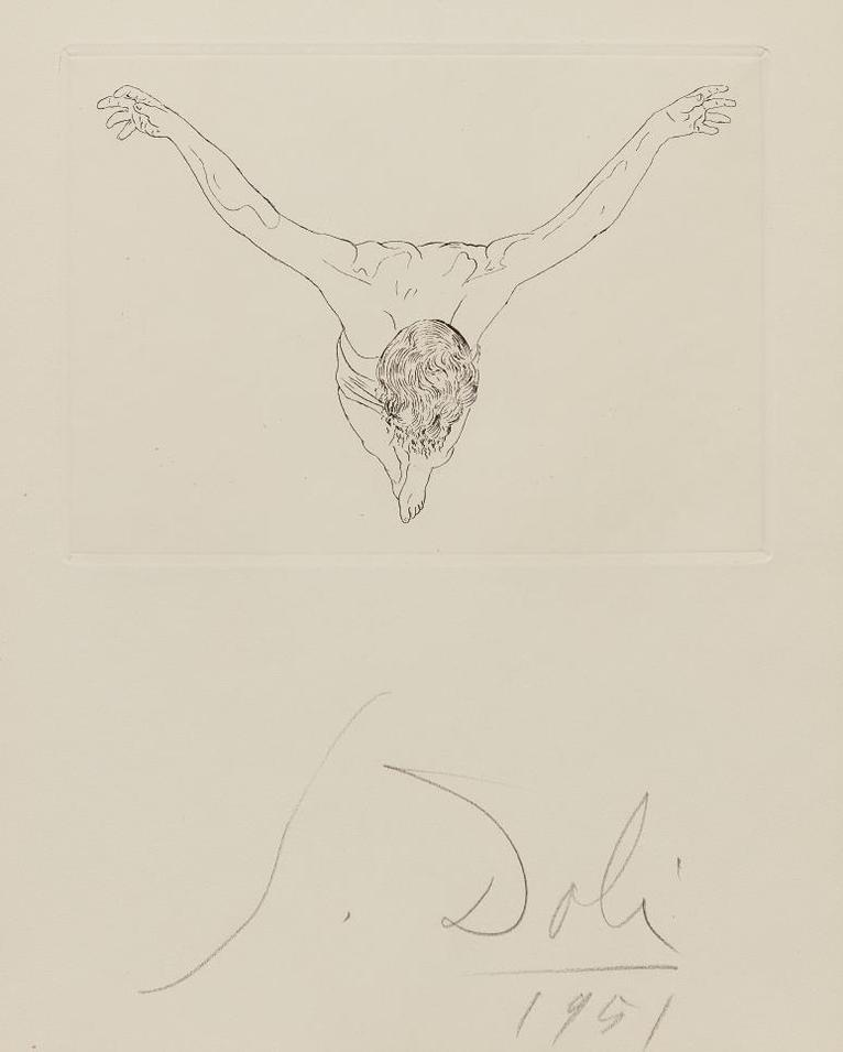 Salvador Dali-Manifeste Mystique (Mystic Manifesto): One Plate-1951