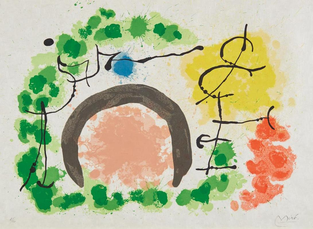 Joan Miro-Le Lezard Aux Plumes Dor: One Plate-1969