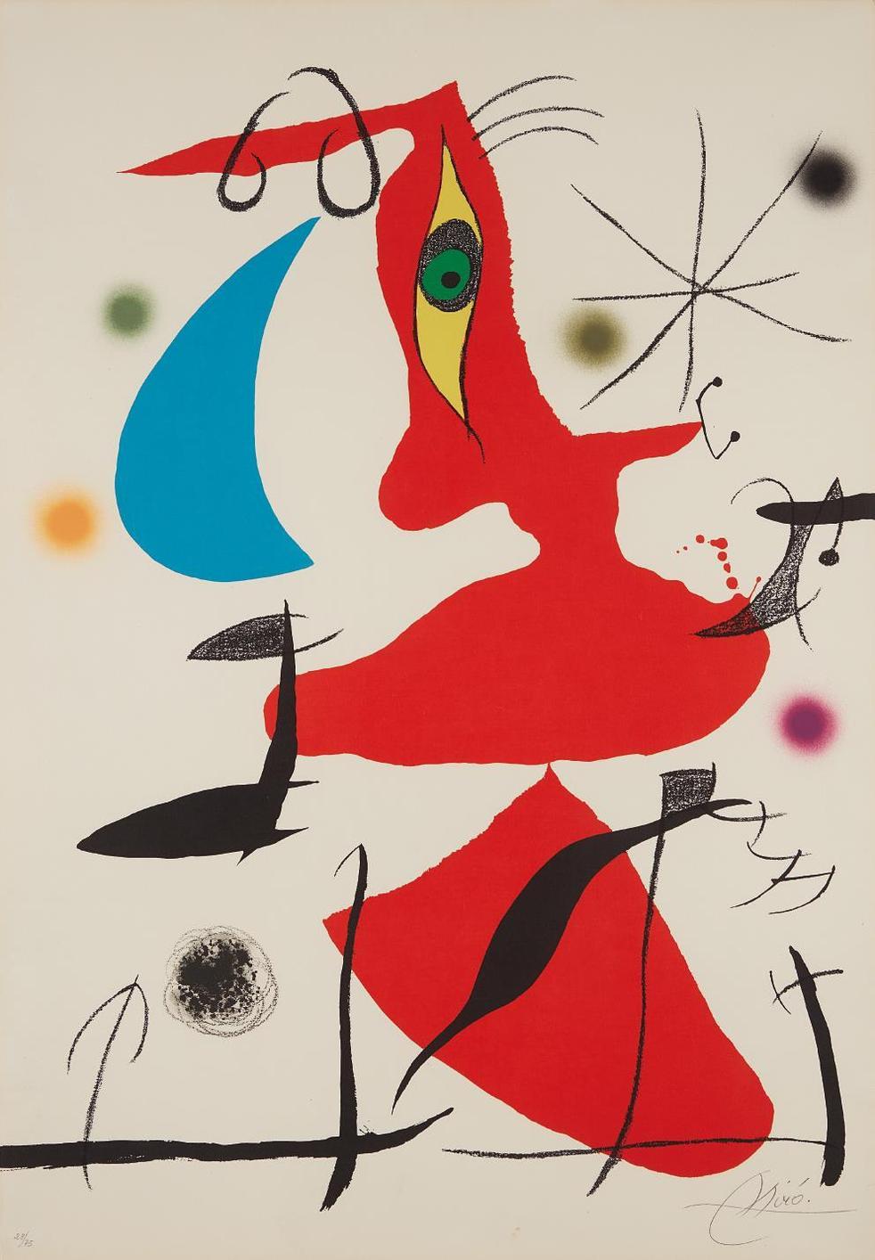 Joan Miro-Oda A Joan Miro (Ode To Joan Miro): Plate VII-1973