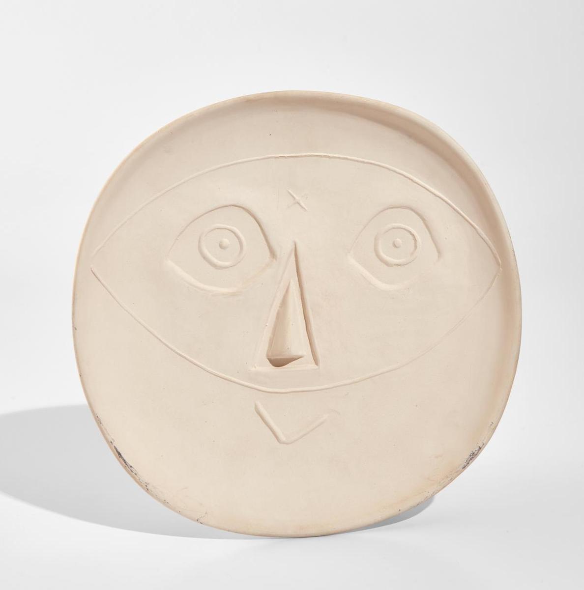 Pablo Picasso-Head With Mask (Tete Au Masque)-1956