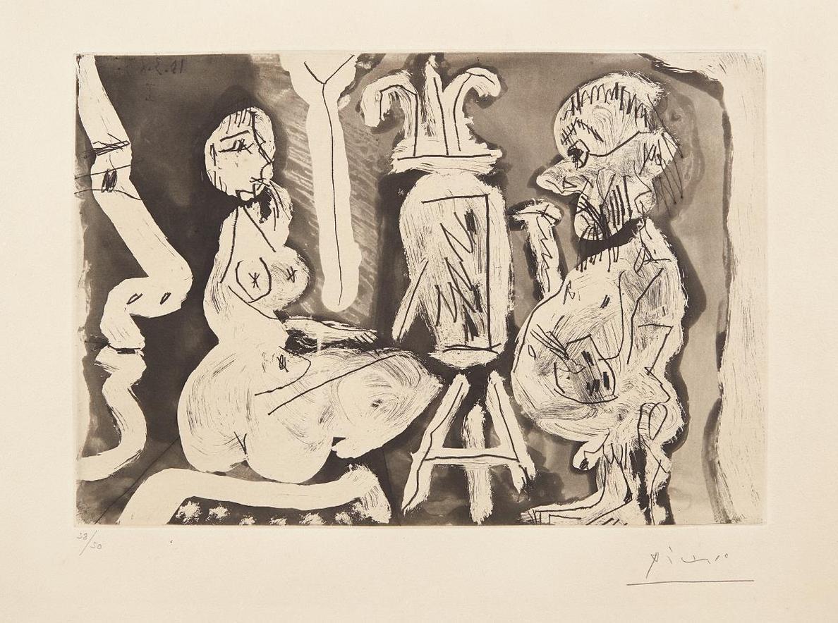Pablo Picasso-Peintre Et Son Modele (Painter And His Model)-1965