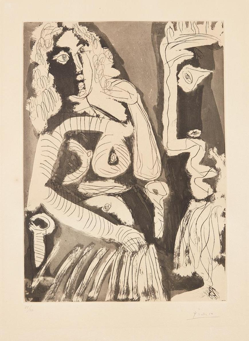Pablo Picasso-Le Modele (The Model)-1965