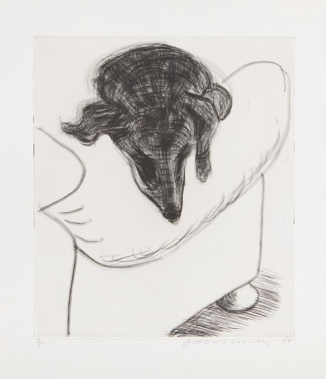 David Hockney-Dog Etching No. 10, From Dog Wall-1998