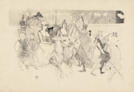 Henri de Toulouse-Lautrec-Une Redoute Au Moulin Rouge (A Gala Evening At The Moulin Rouge)-1893