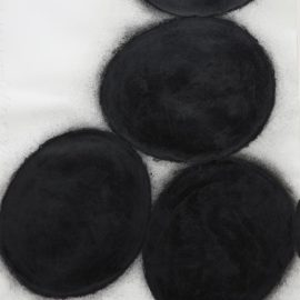 Donald Sultan-Six Black Eggs-1989
