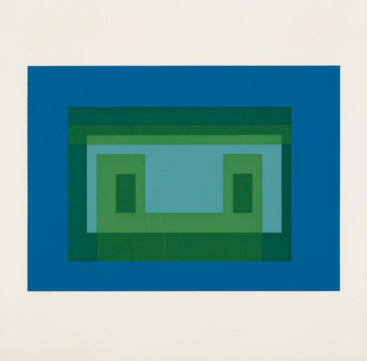 Josef Albers-Variant V, From Ten Variants-1967