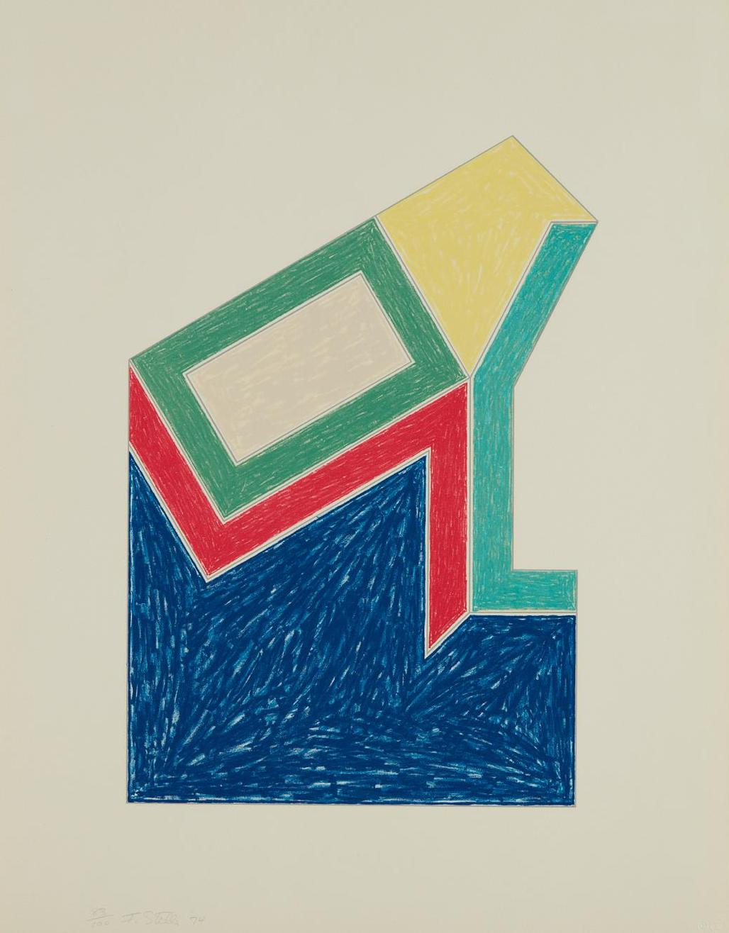Frank Stella-Moultonville, From Eccentric Polygons-1974