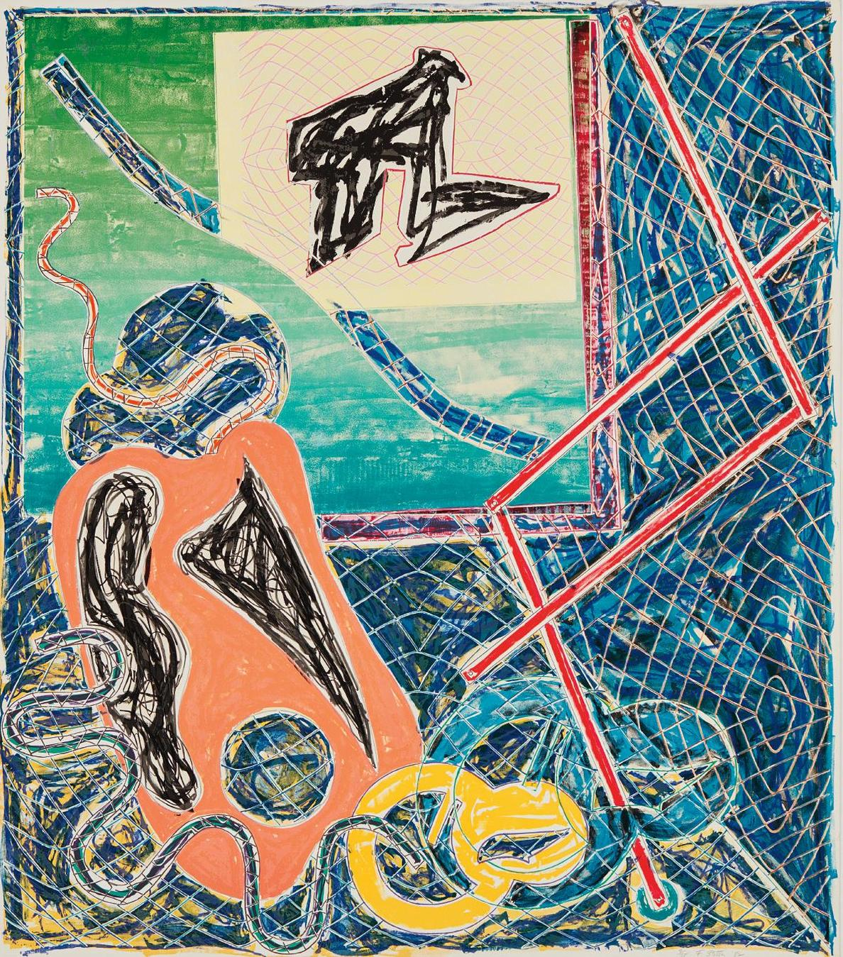 Frank Stella-Shards Variant Ia, From Shards-1982